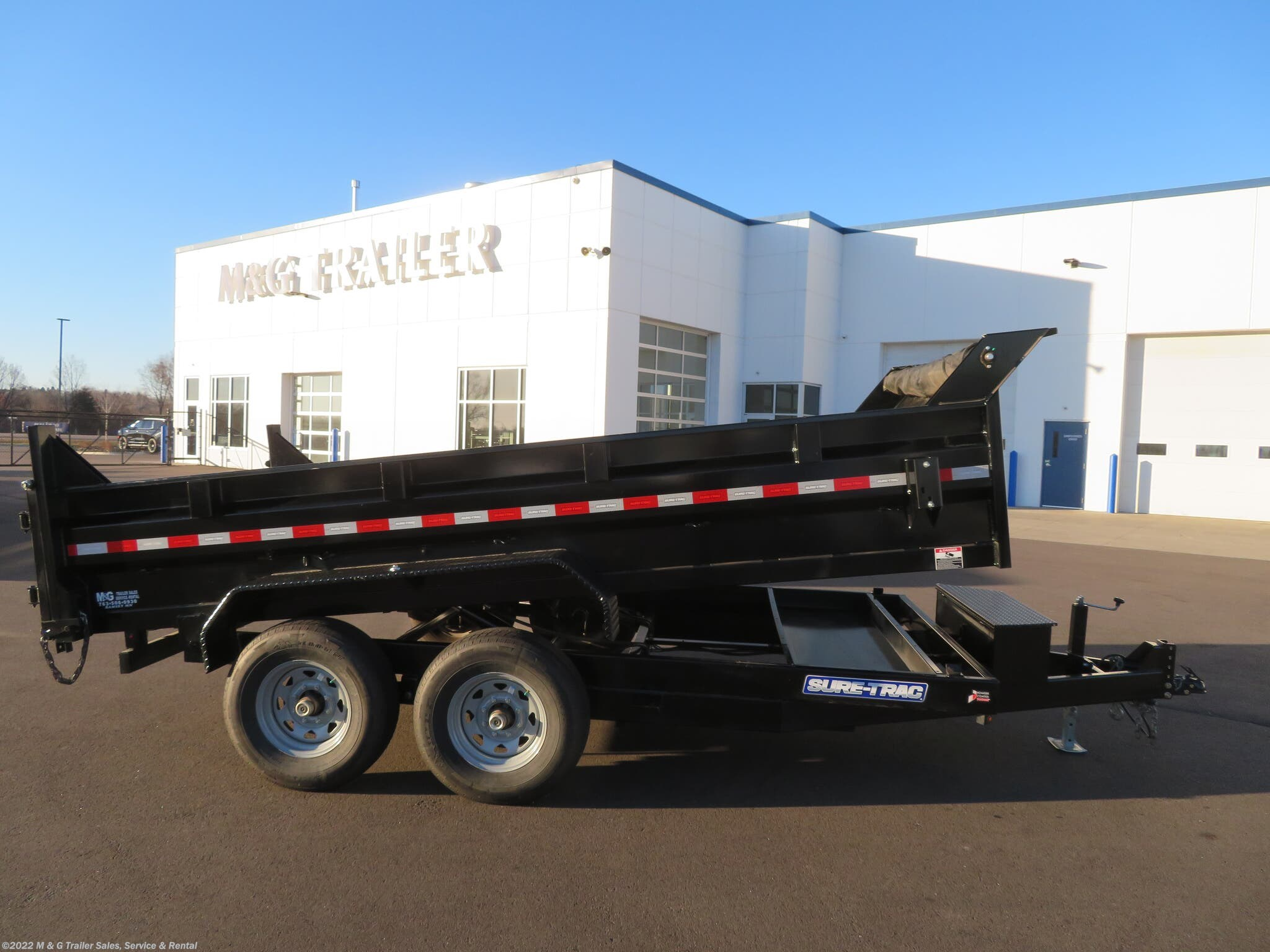 2020 Sure-Trac 14' Dump 14k Trailer - Black - Stock #285718