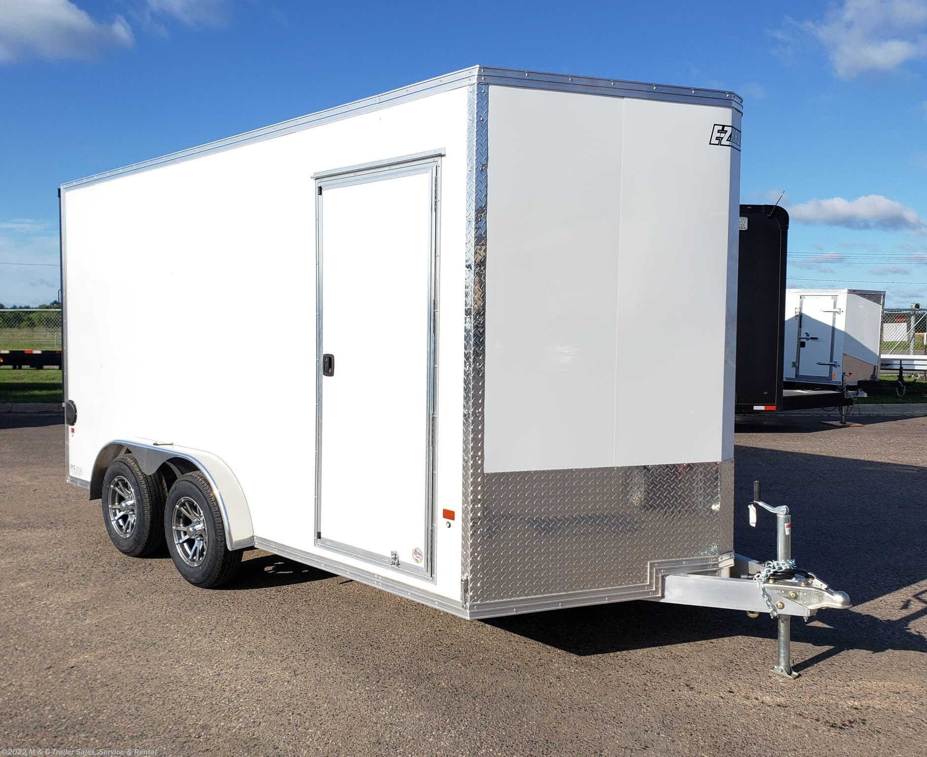 "2021 E-Z Hauler 7.5X14TA Aluminum Enclosed 81"" Int Cargo Trailer – - Stock #016122"