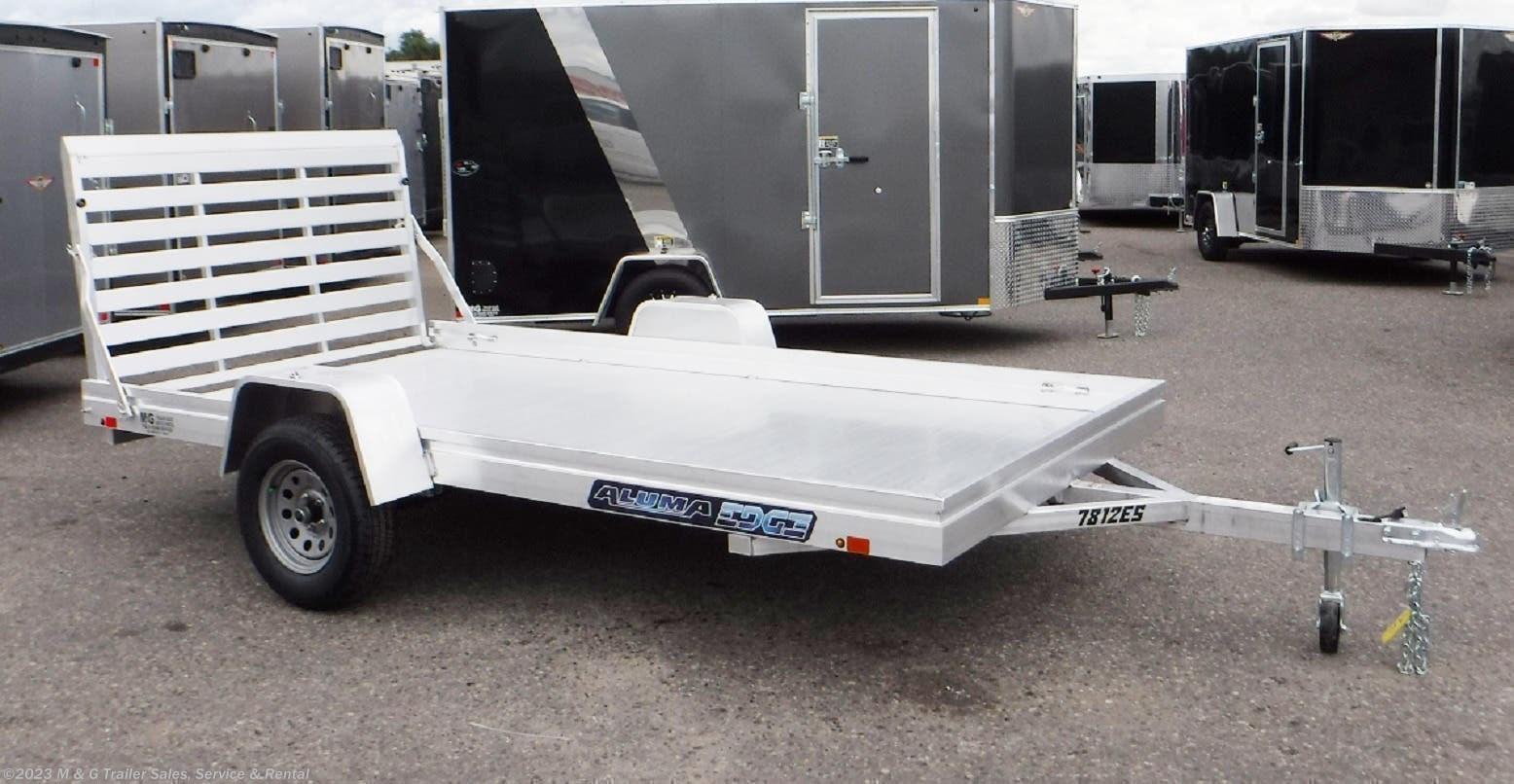 2022 Aluma 7812ES Aluminum Utility Trailer - Stock #232403