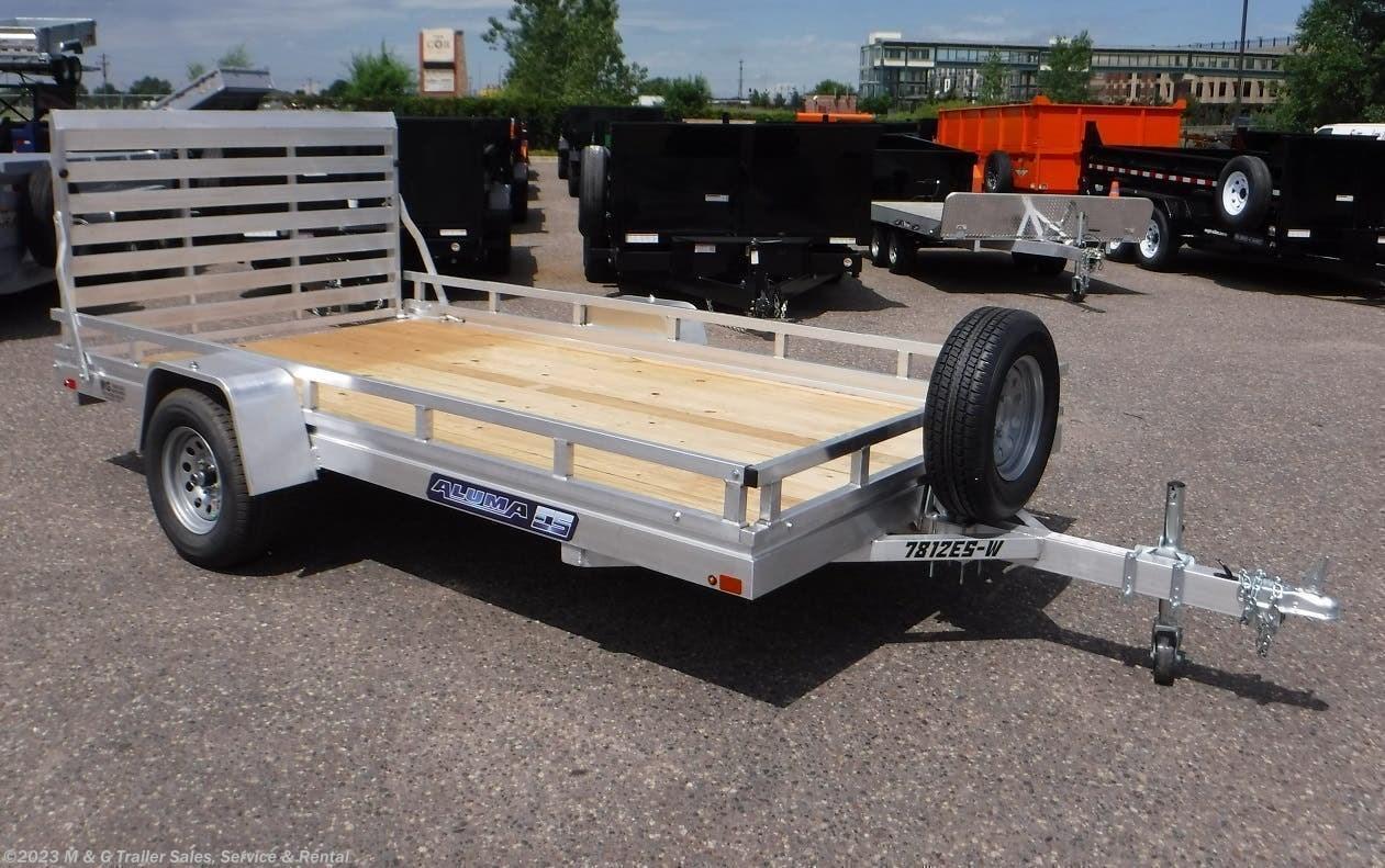 2022 Aluma 7812ESW Wood Deck Utility Trailer - Stock #232012