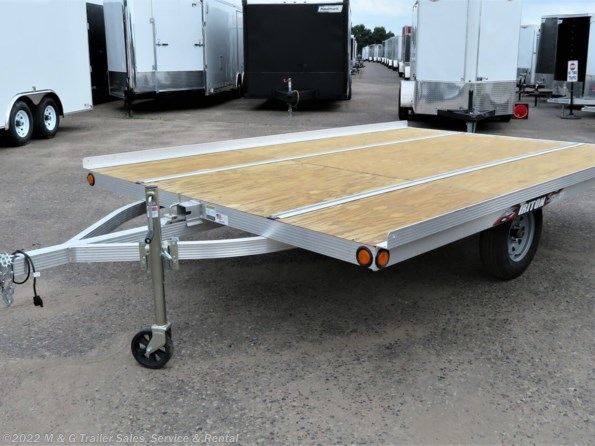 2021 Triton Trailers XT12-101 QP Tilt 2 Place Snowmobile Trailer available in Ramsey, MN
