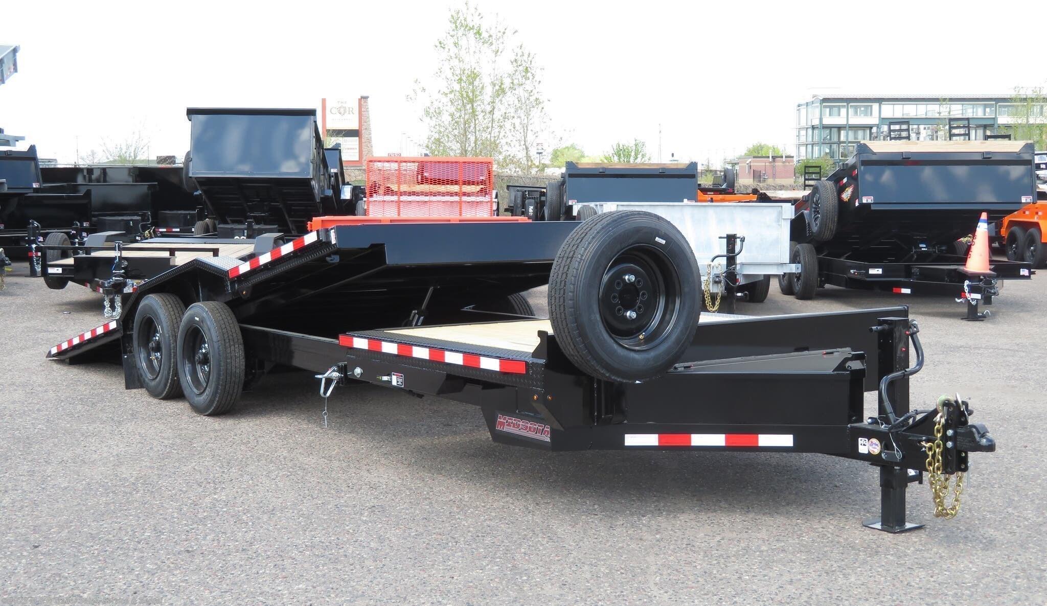 2021 Midsota TBWB-24 Tilt Bed 17k Equipment Trailer - Black - Stock #003262