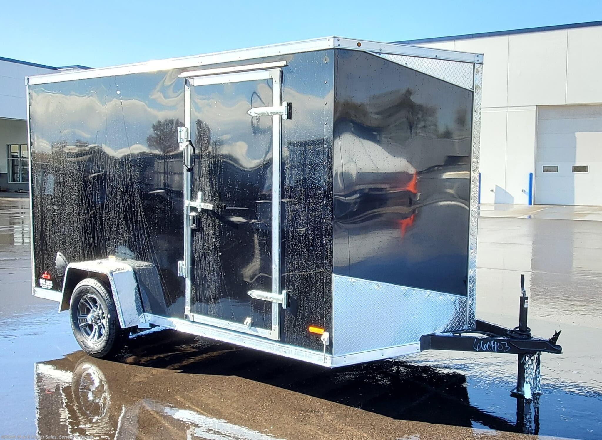 "2021 RC Trailers 6x12SA Enclosed Cargo 6'6"" Interior - Black - Stock #661616"