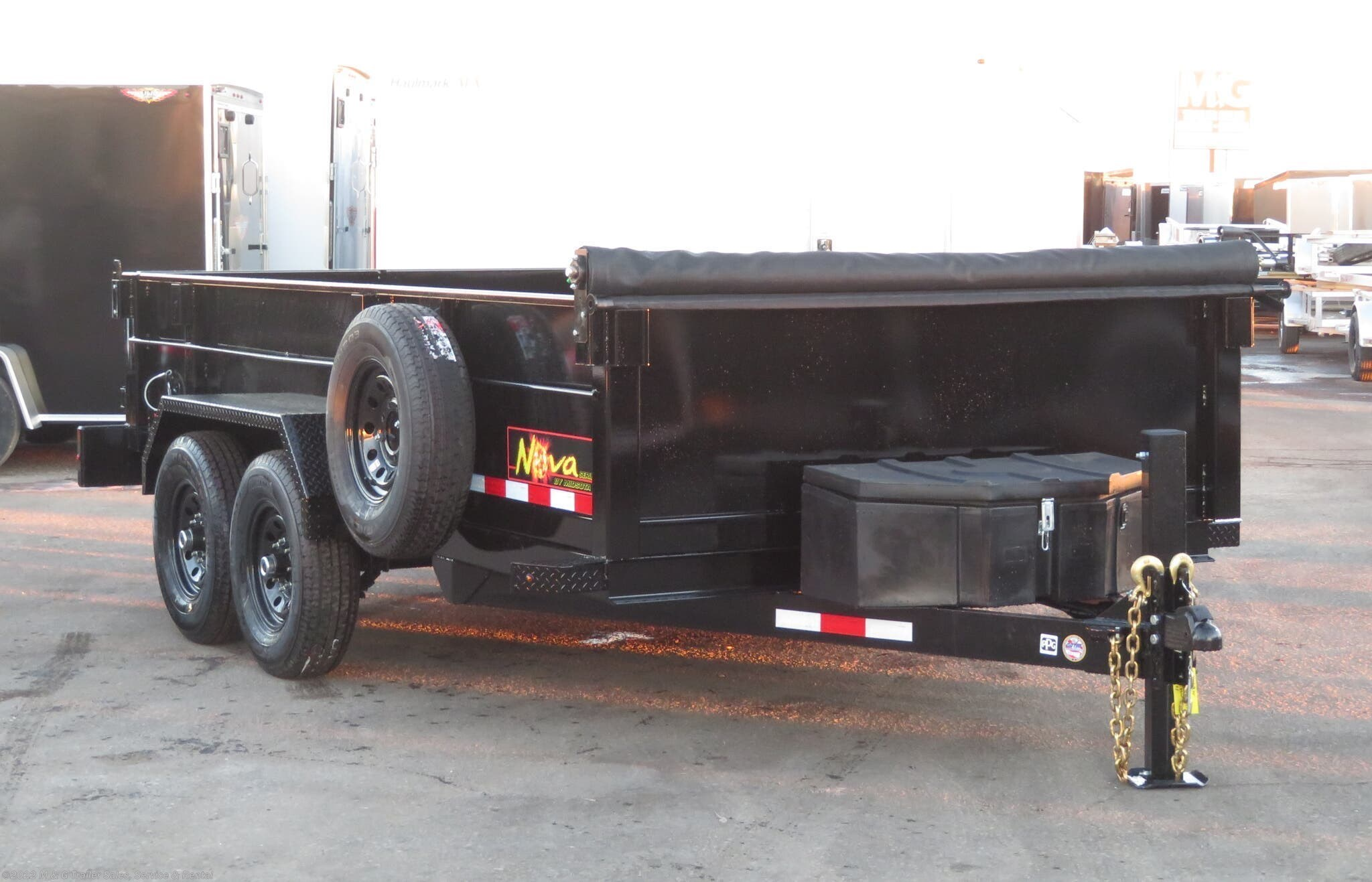2021 Midsota 14' Dump Trailer 15k - Black - Stock #002908