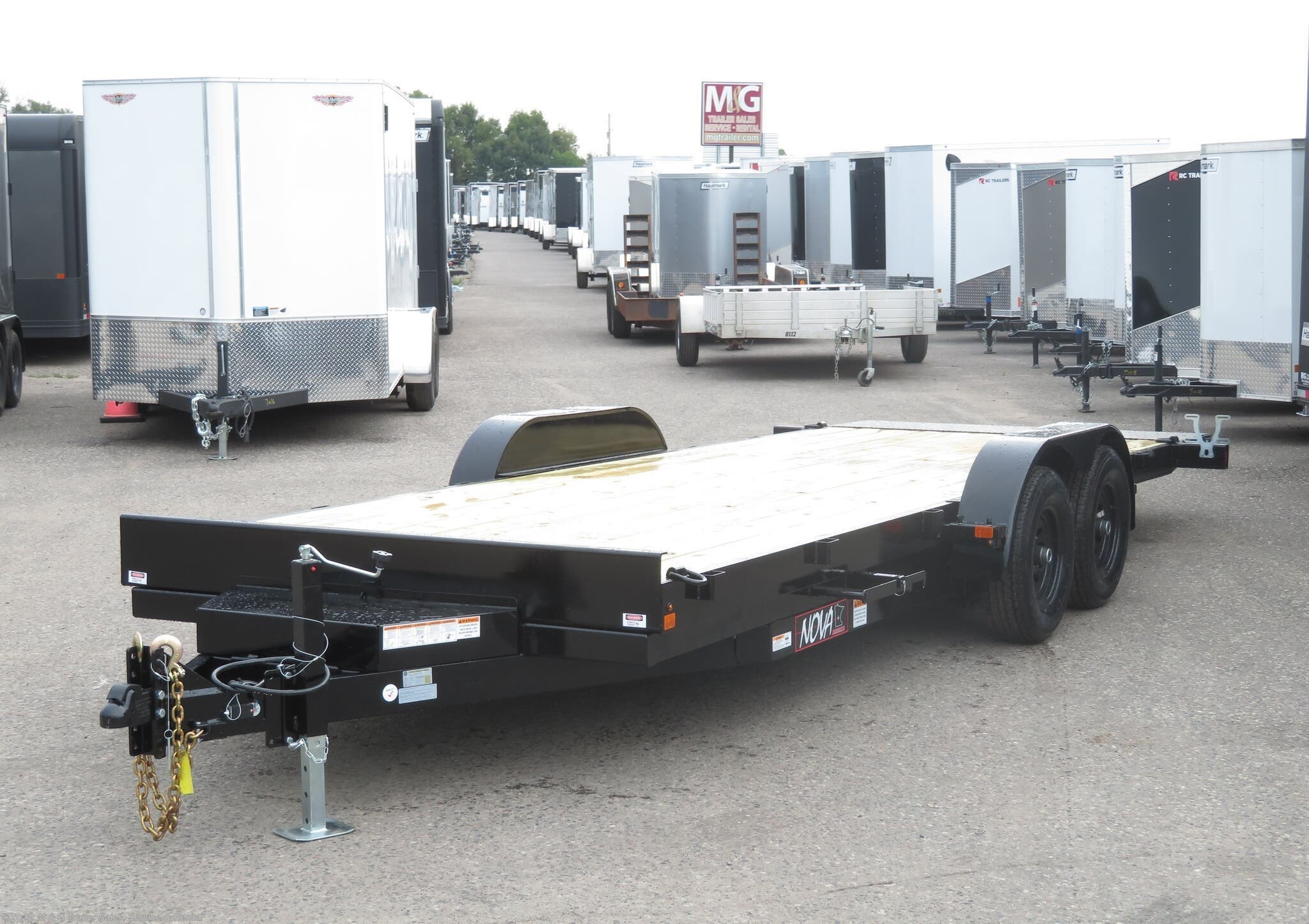 2021 Midsota TB8220 Tilt Deck 10k Trailer - Black - Stock #003045