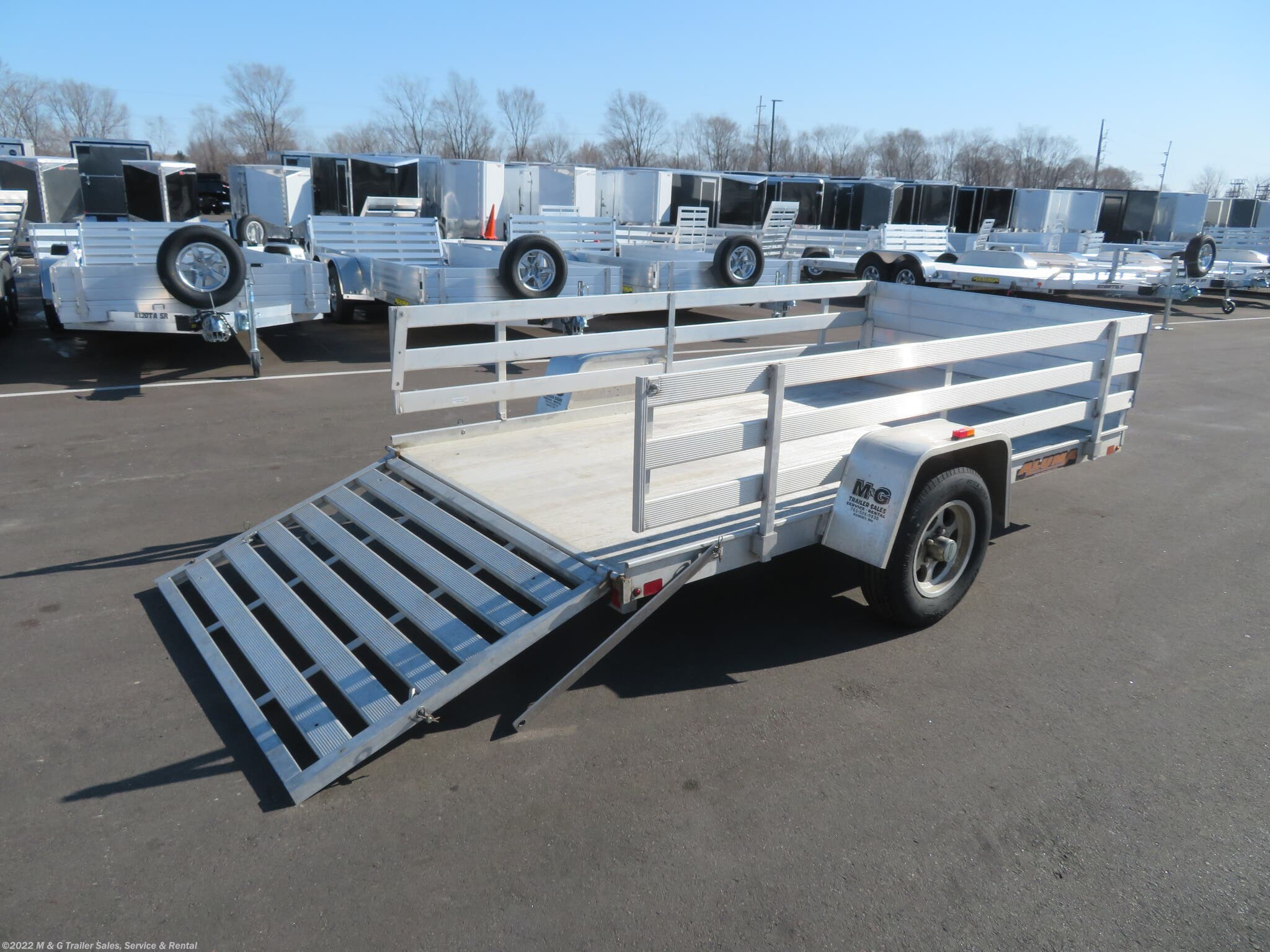 "2013 Aluma 6310 with 24"" Fence Sides Aluminum Utility Trailer - Stock #093845"