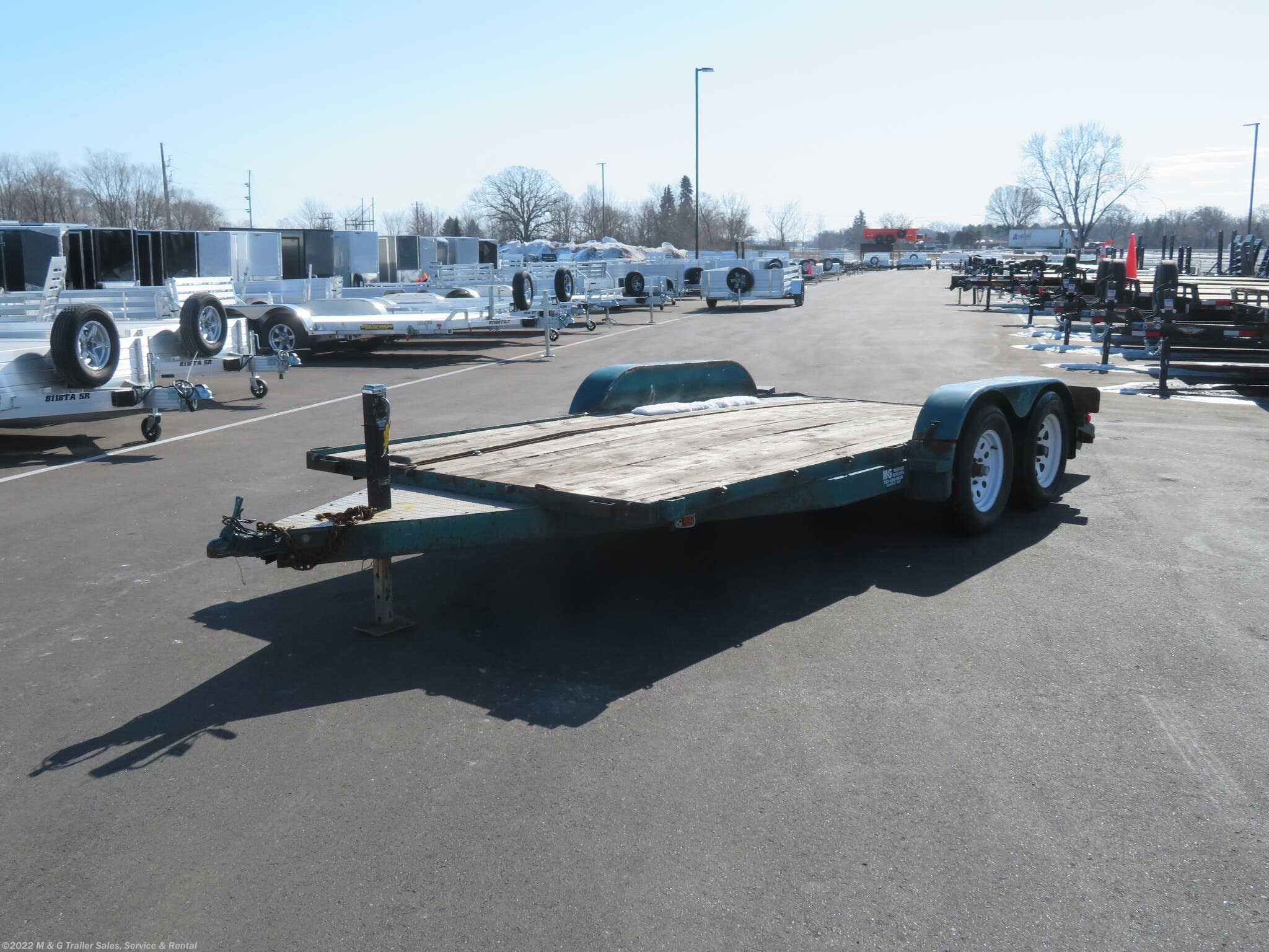 1988 Park Models Mfg 82x16 (14+2) Tandem Axle Utility Trailer - Stock #8153