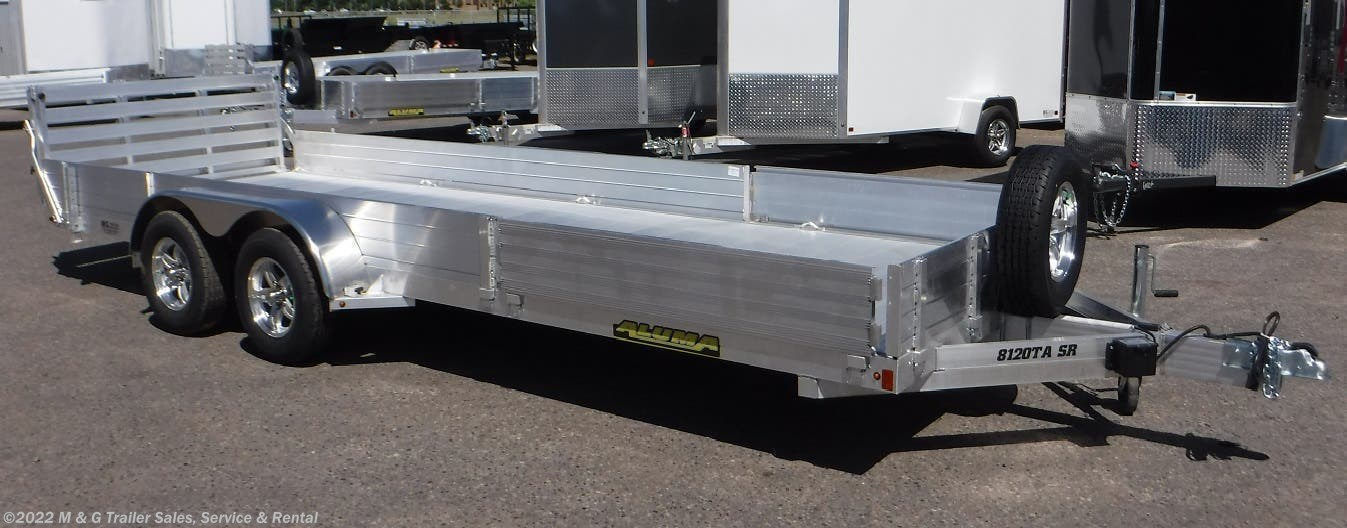 2022 Aluma 8120TA SR Aluminum ATV/Utility Trailer - Stock #236781