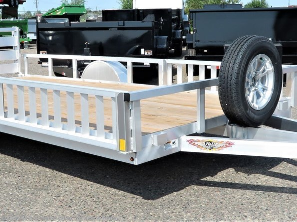 2021 H&H 82x14 Aluminum Rail Side ATV/Utility Trailer available in Ramsey, MN