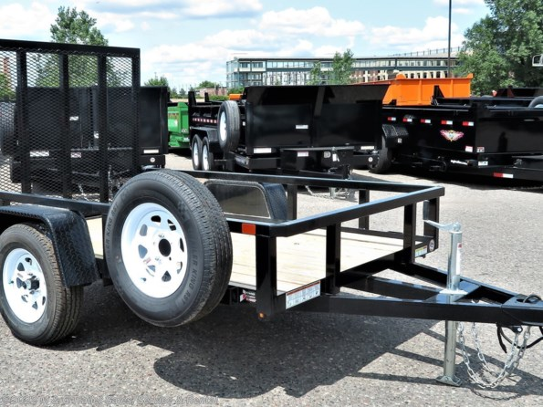 2021 Sure-Trac 5x8 Tube Top Utility - Black available in Ramsey, MN