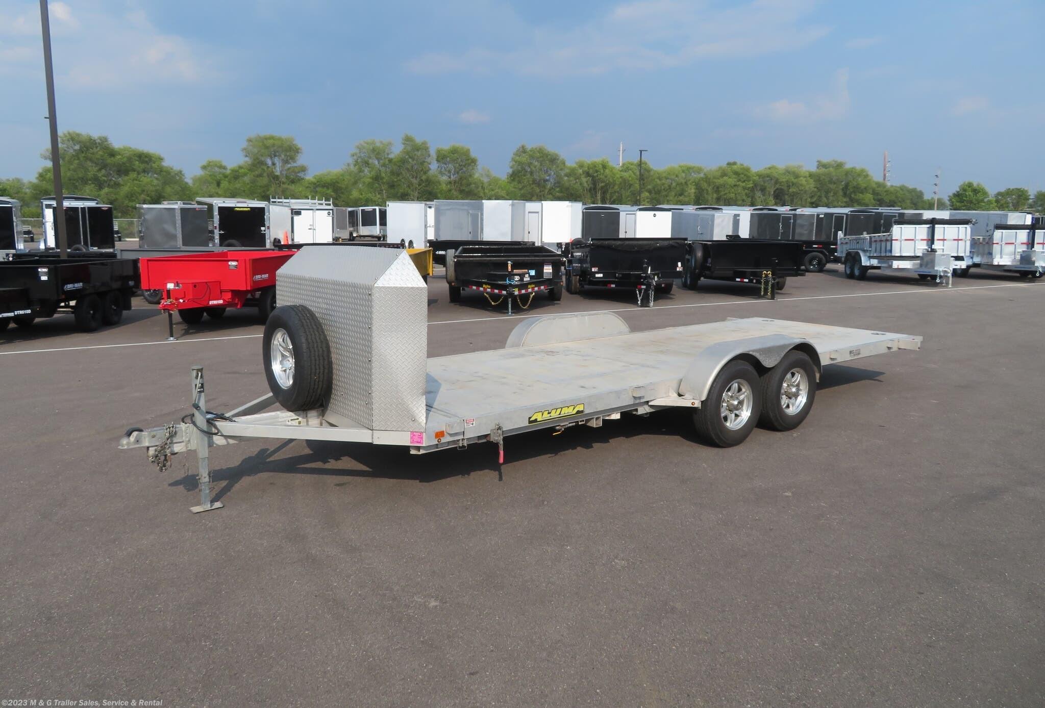 2019 Aluma 8220H Aluminum Tilt Bed Car Hauler - Stock #183041