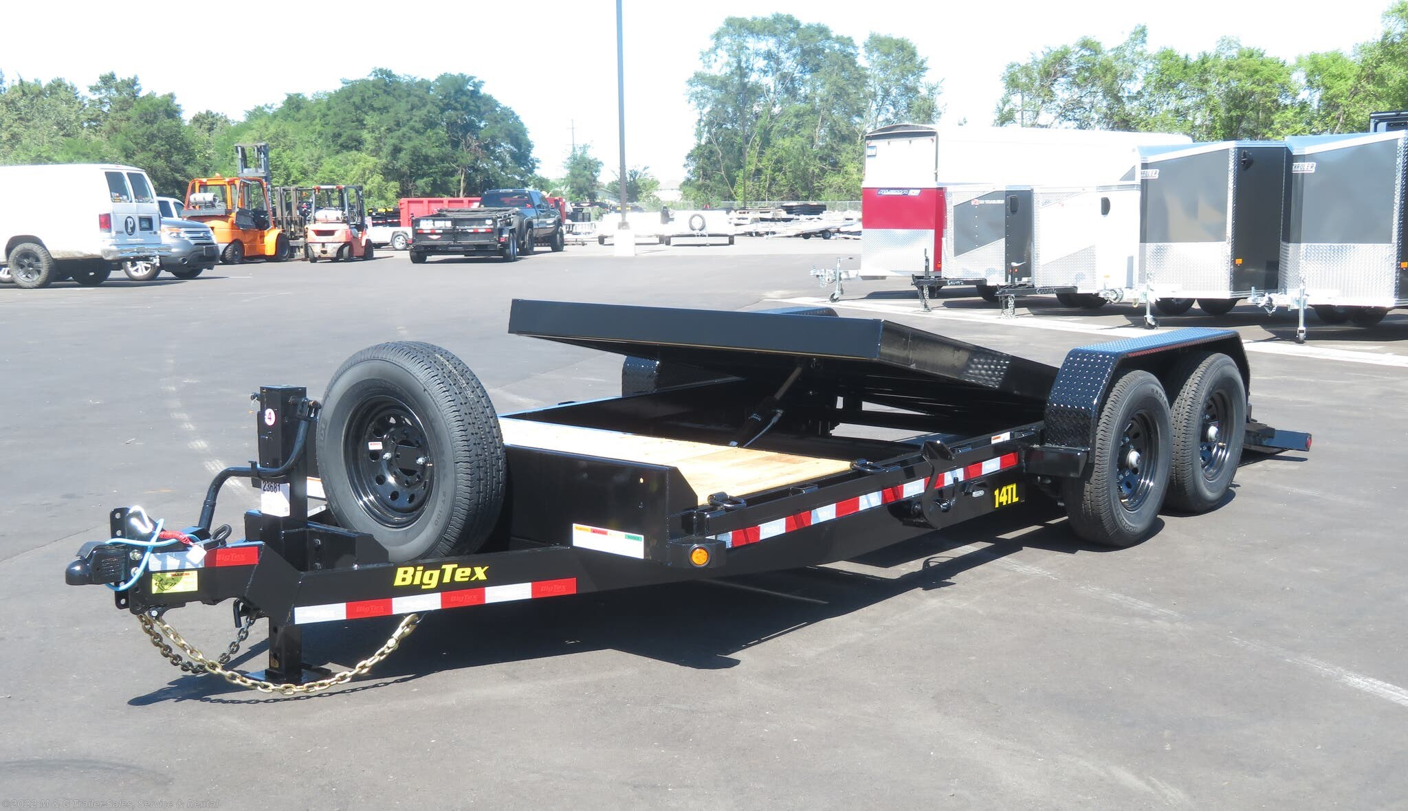 2022 Big Tex 20' Tilt Bed - 4' Stationary Deck - Stock #132071
