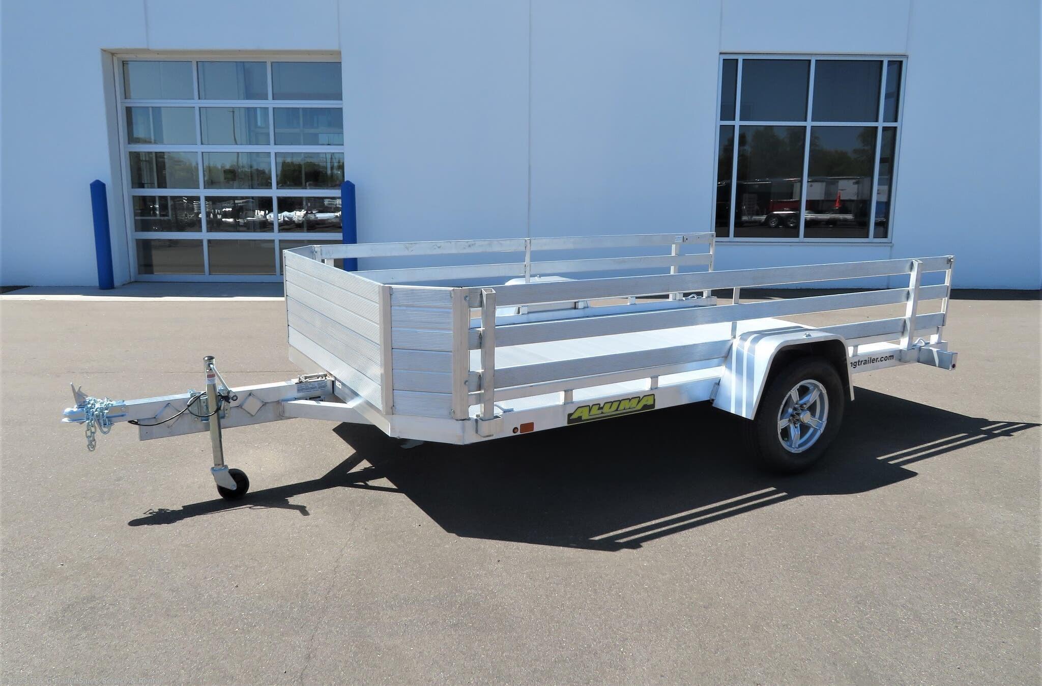 2022 Aluma 7712H Tilt Aluminum Utility Trailer - Stock #244365