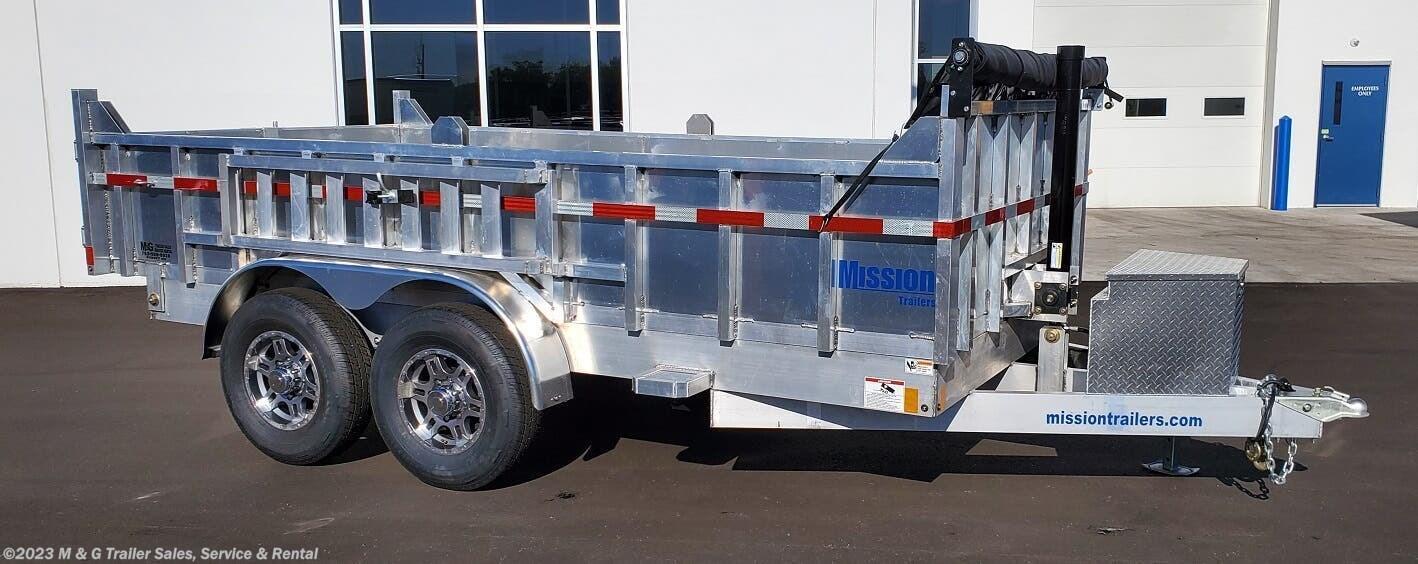 2022 Mission Trailers 14' Aluminum 14k Dump Trailer - Stock #018373