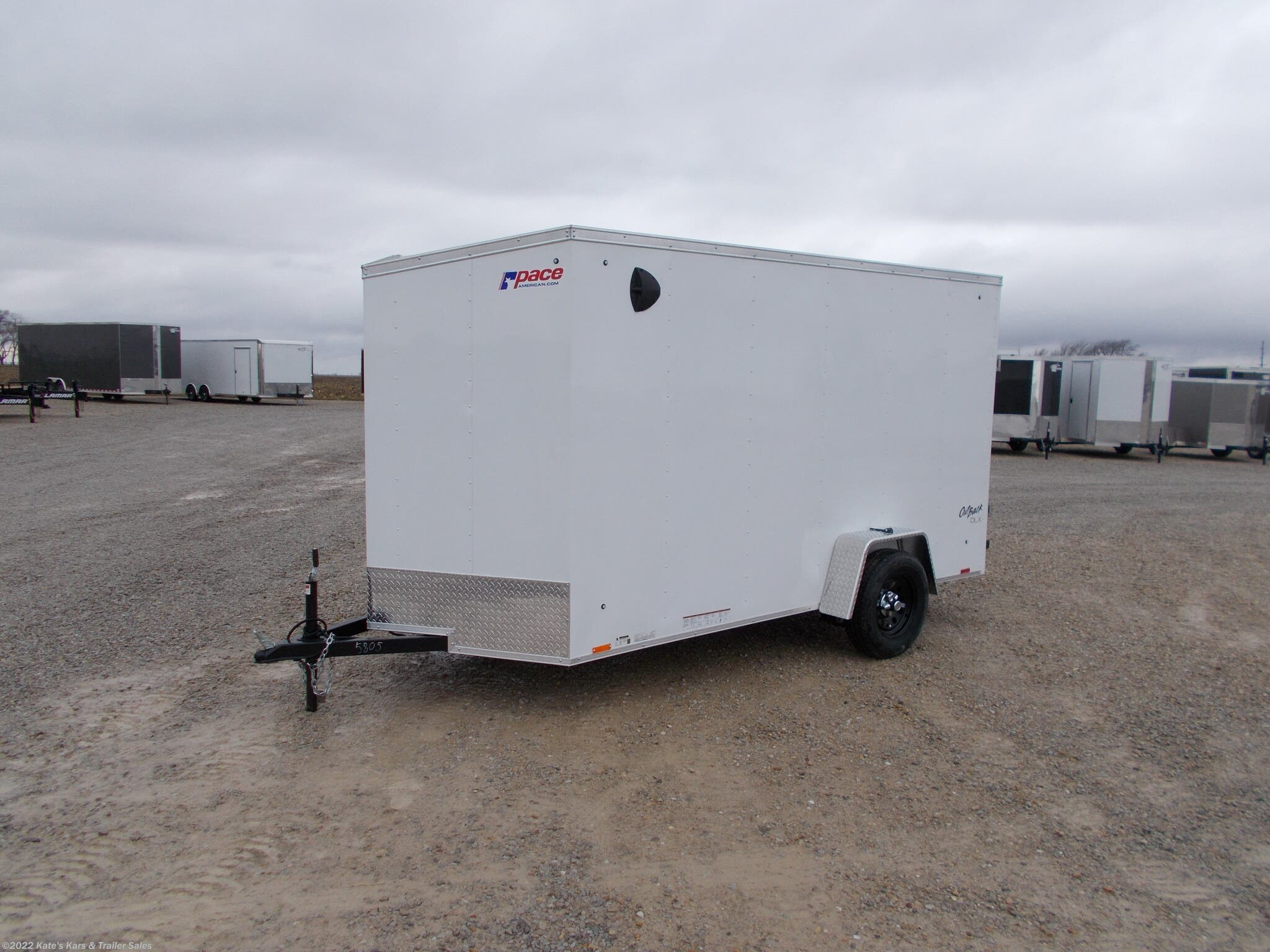 2021 Pace American 6X12 Enclosed Cargo Trailer 6+Tall UTV Package - Stock #5805