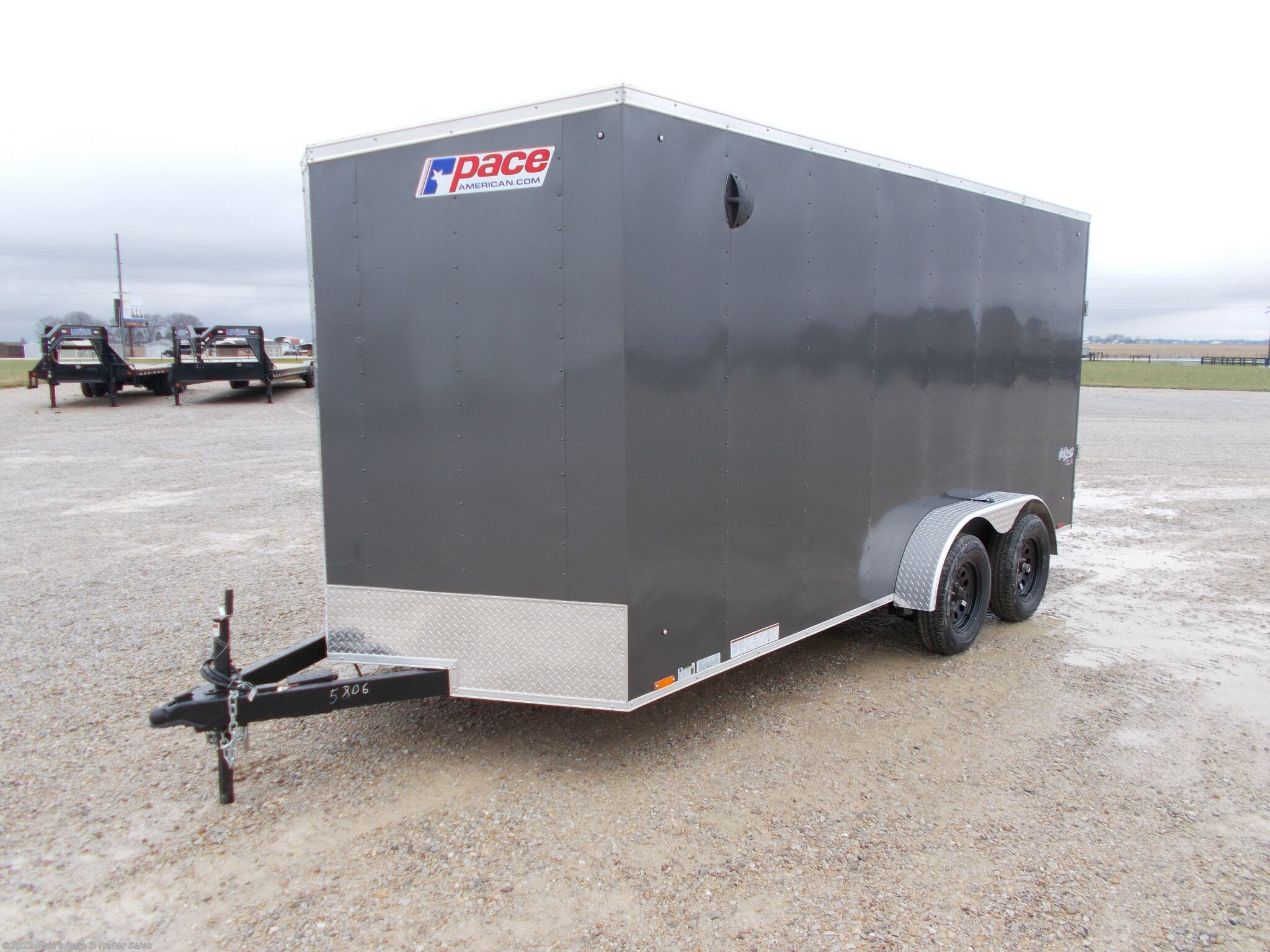 2021 Pace American 7X16 Enclosed Cargo Trailer 12'' Add Height - Stock #5806