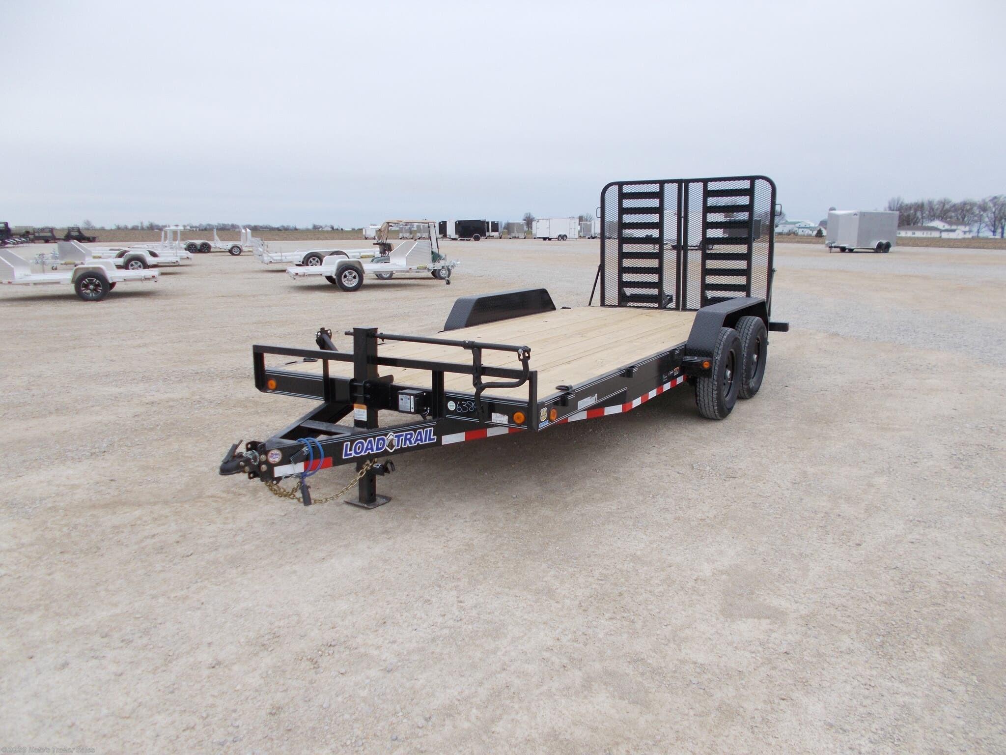 2021 Load Trail 83X18' 14K Equipment Trailer 5Ft Split Gate - Stock #6885