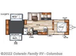 New 2019  Forest River Salem 31KQBTS by Forest River from Colerain RV of Columbus in Delaware, OH