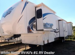Used 2011  Forest River Sandpiper 340RL Front King, Rear Living, Quad Slide by Forest River from White Horse RV Center in Williamstown, NJ