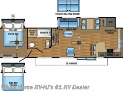 New 2017  Jayco Bungalow 40FKDS Front Kitchen Double Slideout by Jayco from White Horse RV Center in Williamstown, NJ