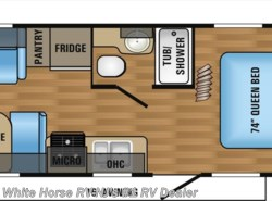 New 2017  Jayco Jay Flight 21QB Front Queen Rear Sofa & Dinette by Jayco from White Horse RV Center in Williamstown, NJ