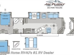 Used 2012 Jayco Jay Flight Bungalow 40 FER Front Entertainment Double Slide-out available in Williamstown, New Jersey