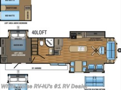 New 2017  Jayco Bungalow 40LOFT Front Living Room Triple Slideout w/Loft by Jayco from White Horse RV Center in Williamstown, NJ