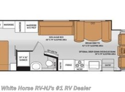 Used 2015  Thor Motor Coach Hurricane 34F King Bed, Full Wall Slide-out by Thor Motor Coach from White Horse RV Center in Williamstown, NJ