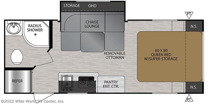 2019 Forest River No Boundaries NB19.5 floorplan image