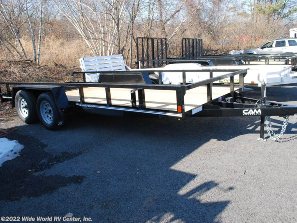 2021 CAM Superline STP8216TATB 7 x 16 Tube Top Utility Trailer available in Wilkes-Barre, PA