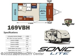 New 2017  Venture RV Sonic Lite SL169VBH by Venture RV from Bourbon RV Center in Bourbon, MO