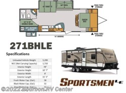 New 2018  K-Z Sportsmen 271BHLE by K-Z from Bourbon RV Center in Bourbon, MO
