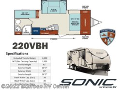 New 2018  Venture RV Sonic SN220VBH by Venture RV from Bourbon RV Center in Bourbon, MO