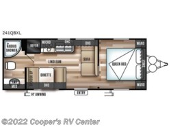 New 2018  Forest River Wildwood X-Lite 241QBXL by Forest River from Cooper's RV Center in Murrysville, PA