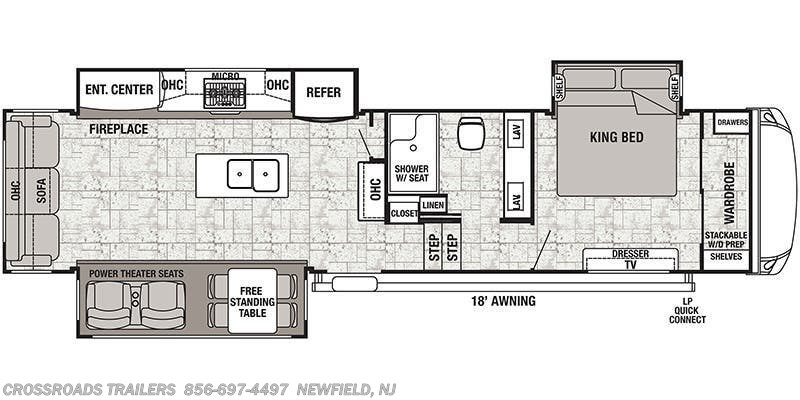 2019 Forest River Cedar Creek Hathaway Edition 34IK floorplan image