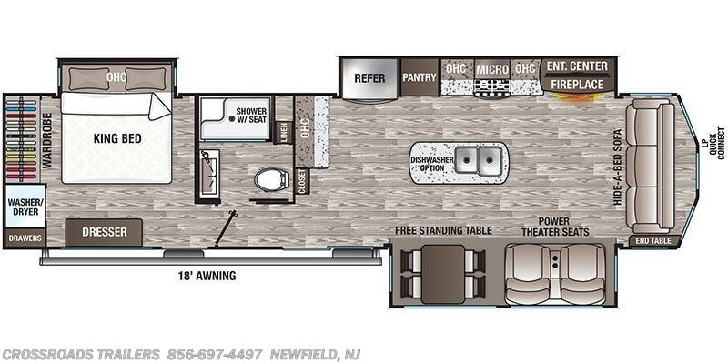 2020 Forest River Cedar Creek Cottage 40CCK floorplan image