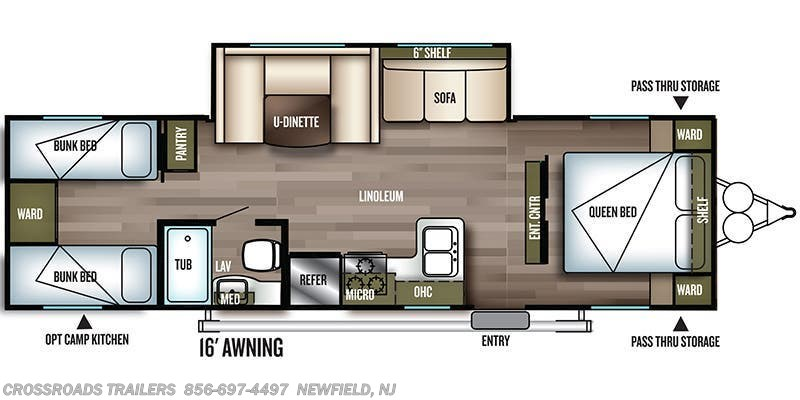 2020 Forest River Salem Cruise Lite 282QBXL floorplan image