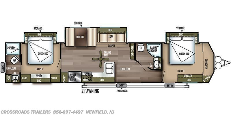 2019 Forest River Salem Villa 4002Q floorplan image