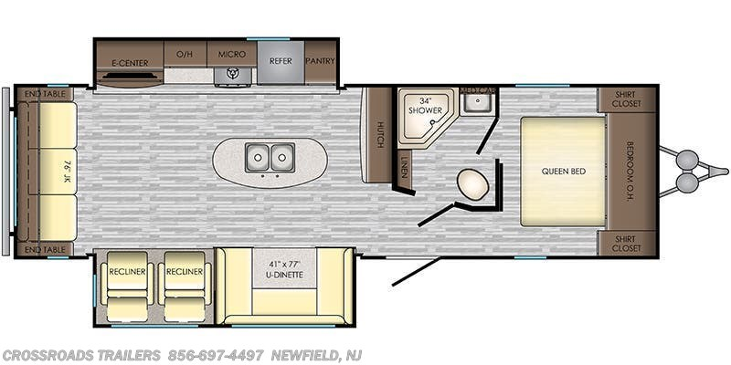 2020 CrossRoads Zinger ZR292RE floorplan image