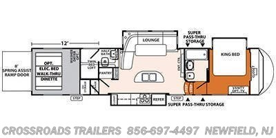 2014 Forest River XLR Thunderbolt 415AMP floorplan image